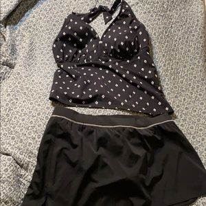 Lands end tankini skirt size 16